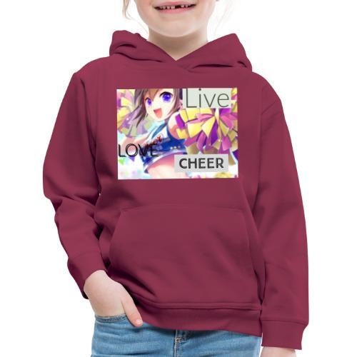 live love cheer - Kids' Premium Hoodie