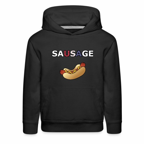 Patriotic BBQ Sausage - Kids' Premium Hoodie
