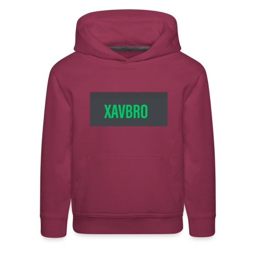xavbro green logo - Kids' Premium Hoodie