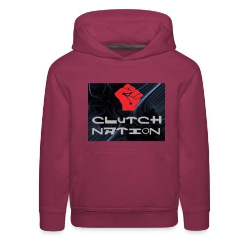 clutchnation logo merch - Kids' Premium Hoodie