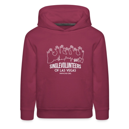 White logo SVLV - Kids' Premium Hoodie