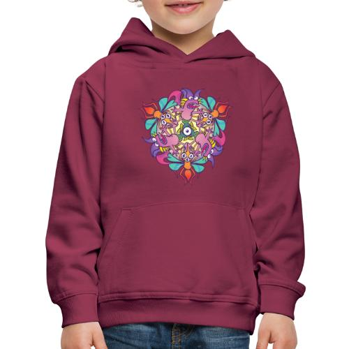 Mosquitoes, bats and fishes in doodle art style - Kids' Premium Hoodie