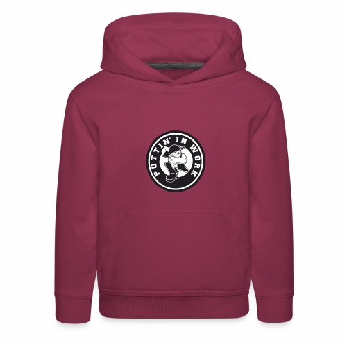 Solid Puttin' In Work Logo - Kids' Premium Hoodie