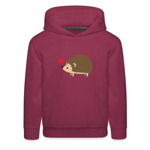 Hedgehog with Heart - Kids' Premium Hoodie