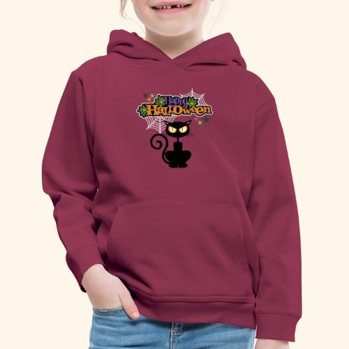 happy holloween BLACCK CAT TEE - Kids' Premium Hoodie