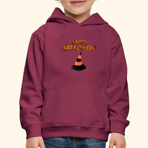 HAPPY HALLOWEEN WITCH HAT TEE - Kids' Premium Hoodie
