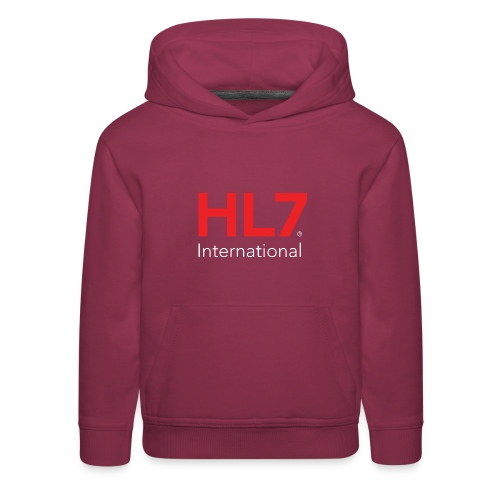 HL7 International Logo - Reverse - Kids' Premium Hoodie