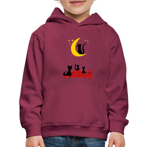Cats on the roof - Kids' Premium Hoodie