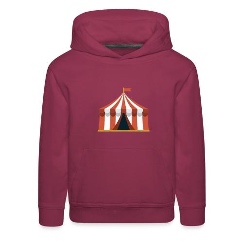 Striped Circus Tent - Kids' Premium Hoodie
