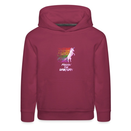 Follow The Unicorn - Kids' Premium Hoodie