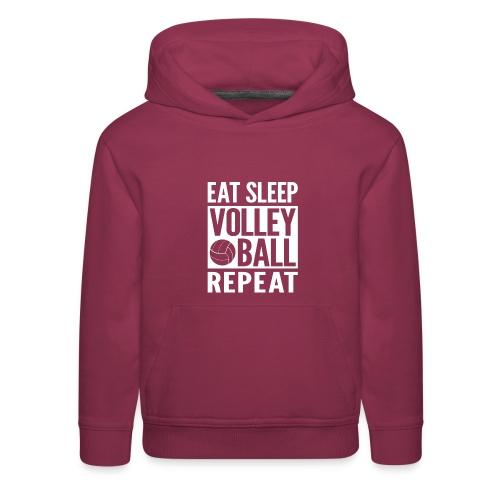 Eat Sleep Volleyball Repeat - Kids' Premium Hoodie