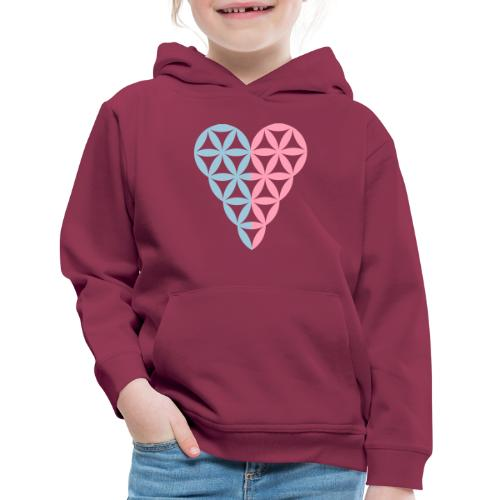 Dual Heart, Male-Female Duality. Vector image. - Kids' Premium Hoodie