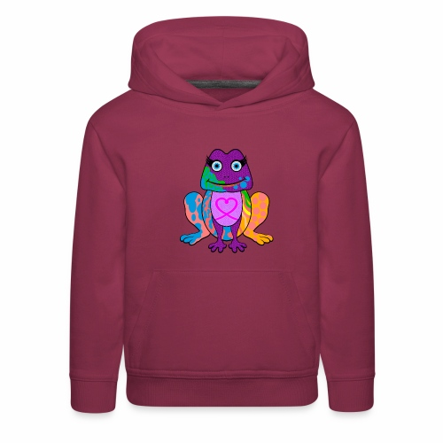 I heart froggy - Kids' Premium Hoodie