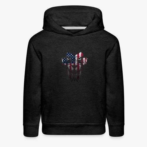 American Flag Lion Shirt - Kids' Premium Hoodie