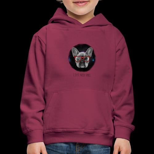 I Just Need Space Dog in Funny Glasses - Kids' Premium Hoodie