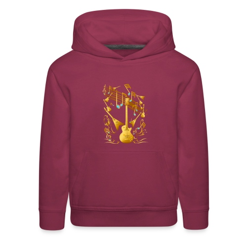 Gold Guitar Party - Kids' Premium Hoodie