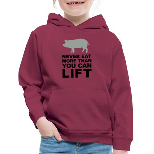 Never eat more than you can lift 2c (++) - Kids' Premium Hoodie