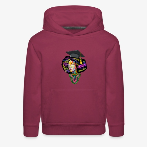 Black Educated Queen School - Kids' Premium Hoodie