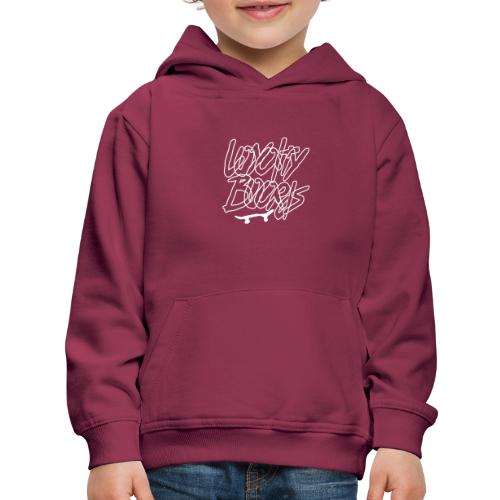 Loyalty Boards White Font With Board - Kids' Premium Hoodie