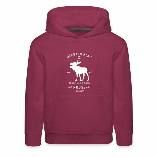 McGrath Meat Company White Stamp Logo - Kids' Premium Hoodie