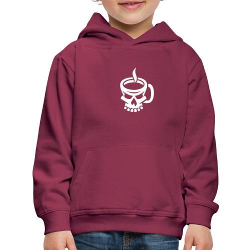 Caffeinated Coffee Skull - Kids' Premium Hoodie