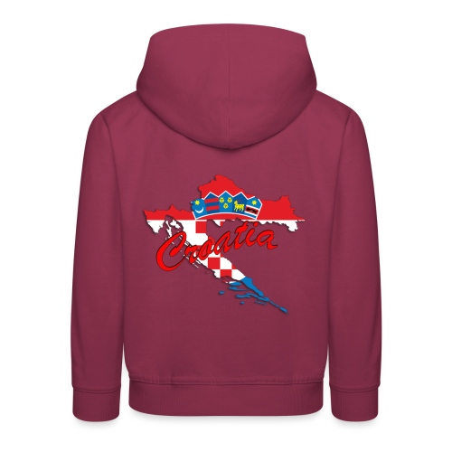 Croatia Football Team Colours T-Shirt Treasure Des - Kids' Premium Hoodie