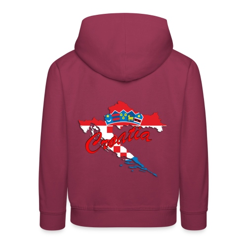 Croatia Football Team Colours T-Shirt Treasure Des - Kids' Premium Hoodie