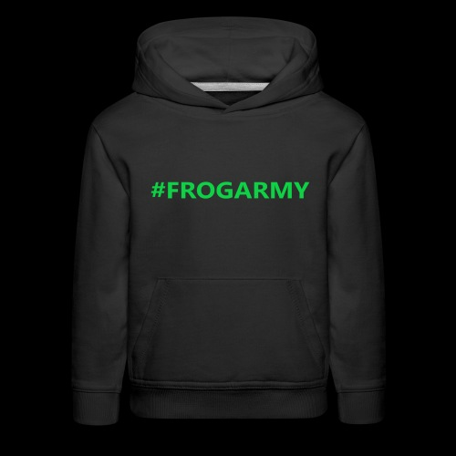 #FROGARMY Black Hoodie Kids - Kids' Premium Hoodie