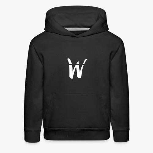 W White Design - Kids' Premium Hoodie