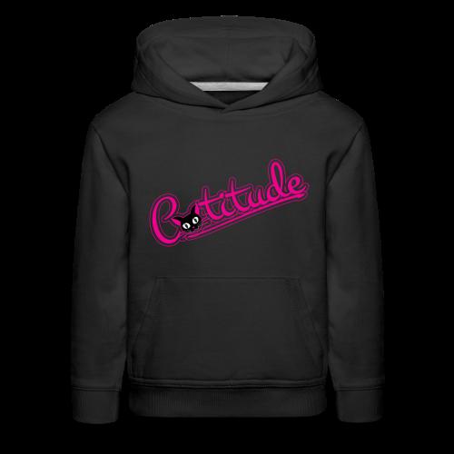 Catitude - Kids' Premium Hoodie