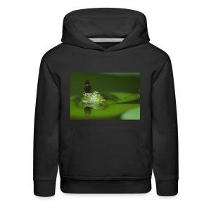 frog butterfly - Kids' Premium Hoodie