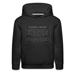 Photographers Legal Rights - Kids' Premium Hoodie