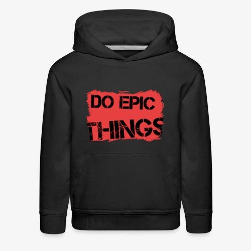 Litty crayola Do Epic Things Youtube Logo - Kids' Premium Hoodie