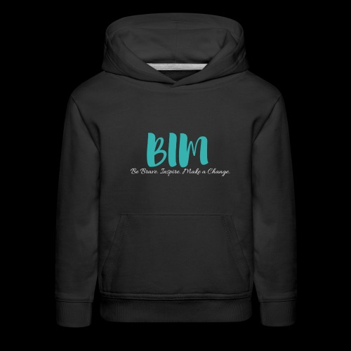 BIM Turquoise/Black - Kids' Premium Hoodie