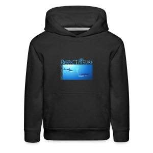 Respect The Shark - Kids' Premium Hoodie