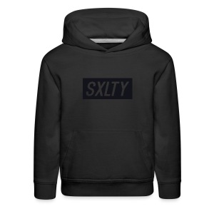 *Dark Blue SXLTY Logo* REGULAR TSHIRT. - Kids' Premium Hoodie