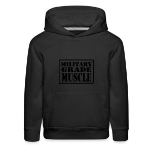 Military Grade Muscle Black - Kids' Premium Hoodie