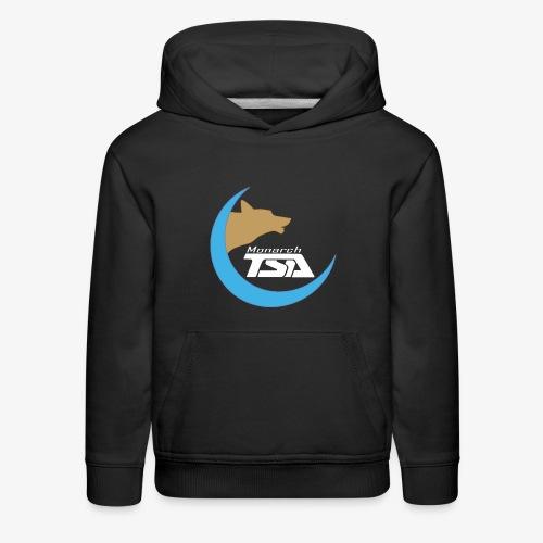 Monarch TSA Logo - White - Kids' Premium Hoodie