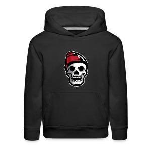 Custom Skull With Ice Cap Merch! - Kids' Premium Hoodie