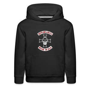 Deplorables - Made in USA - Bikers for Trump - Kids' Premium Hoodie