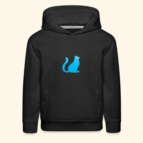 Bleu cat - Kids' Premium Hoodie