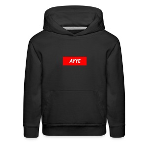 AYYE box logo - Kids' Premium Hoodie