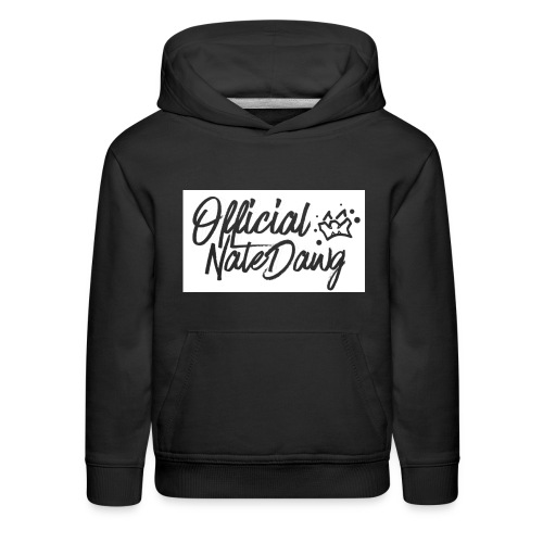 Official NateDawg Black White Covered Merch - Kids' Premium Hoodie