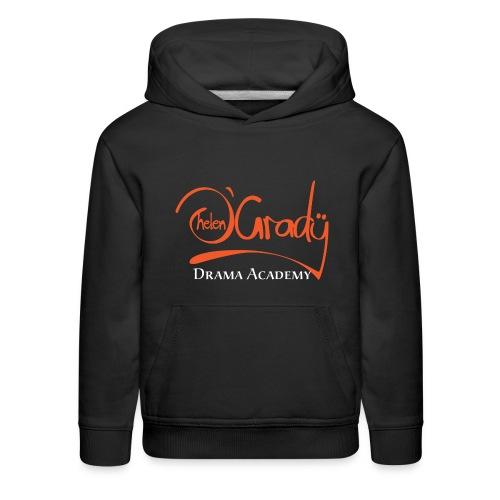 Helen O'Grady Orange Logo on Black - Kids' Premium Hoodie