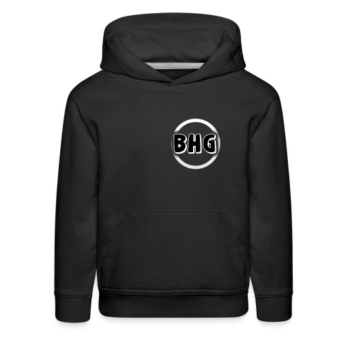 My YouTube logo with a transparent background - Kids' Premium Hoodie