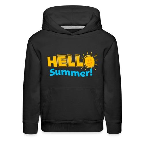 Kreative In Kinder Hello Summer! - Kids' Premium Hoodie