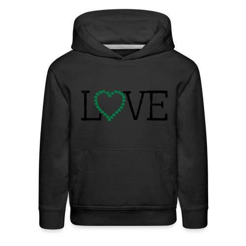 LOVE irish shamrocks - Kids' Premium Hoodie