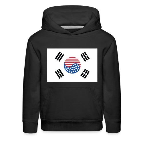 Korean American Flag - Kids' Premium Hoodie
