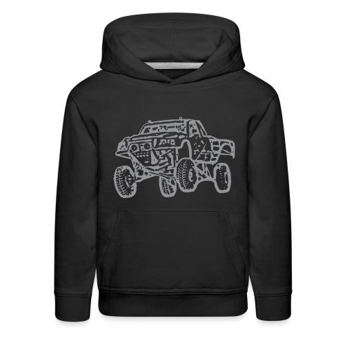 Jump Truck Grey - Kids' Premium Hoodie