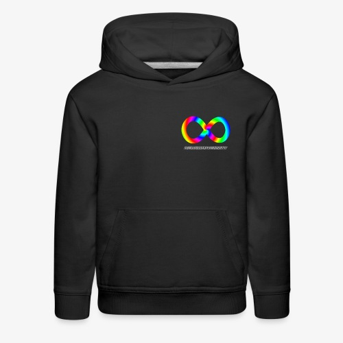 Neurodiversity with Rainbow swirl - Kids' Premium Hoodie